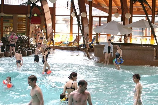 Start your full day trip (flexible time between 09:00 a.m. and 09:00 p.m.) to the Laguna Water Park in Germany with hotel pickup in Basel, Switzerland. Enjoy five pools with varying themes suiting your mood. Relax and take advantage of the flexible departure time to the park and returns.