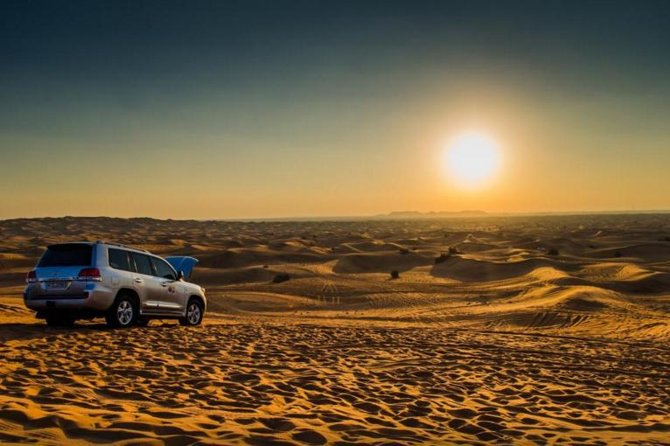 Our expert driver's team will take you to the Lahbab desert where you will enjoy 45 minutes dune bashing that will accelerate your heart beat. If you want to drive in desert you can also enjoy quad bike that will be more fun and you can also enjoy camel riding. After that our driver will drop back you to your hotel or residence.