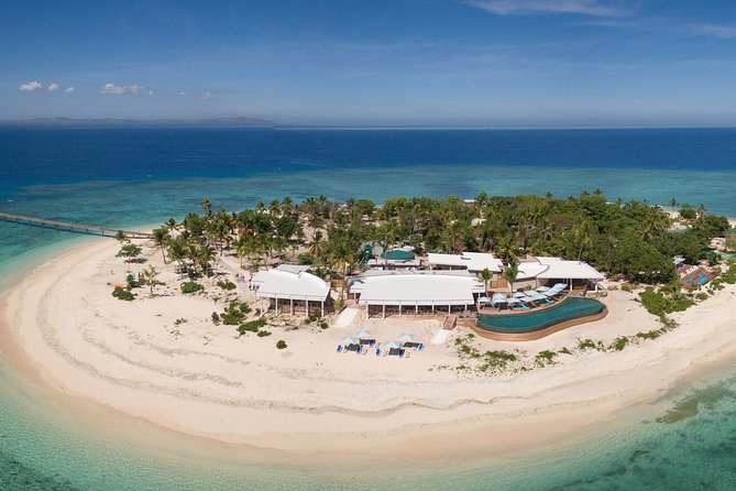 Love at first flight!<br><br>Are you a romantic at heart, looking for that perfect proposal idea or just wanting to spend quality time with that special person in your life? Then a day trip to the fabulous new Malamala Beach Club Fiji is exactly what you are looking for. Imagine laying in your private beach side cabana enjoying sumptuous food with butler service, surrounded by exquisite crystal clear waters, you really will fall in love.<br><br>Just 15 minutes from Nadi or Denarau by Helicopter, a rock star way to arrive.  You will have the whole island to yourselves for around 30 minutes before the South Sea Cruises boat arrives.  <br><br>This is a full day trip departing around 9.45am and returning at either 4.15pm or 5.15pm from Malamala arriving Denarau at 5pm or 6pm.<br><br>If proposing we will have a 'will you marry me?' banner on the sand, when you fly over it will be visible, conversely the same applies with 'Happy Birthday' or 'Congratulations'