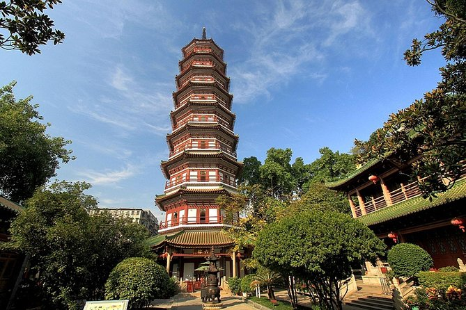 Visit the top historical sites in Guangzhou and get to know the city's rich history and culture. Follow a knowledgeable local tour guide who shares informative commentary, visit the 19th-century architecture of the Chen Clan Academy, see the picturesque environs of Lizhiwan canal, marvel at the Five-Ram Sculptur, and discover the history of Buddhism Temple of the Six Banyan Trees.
