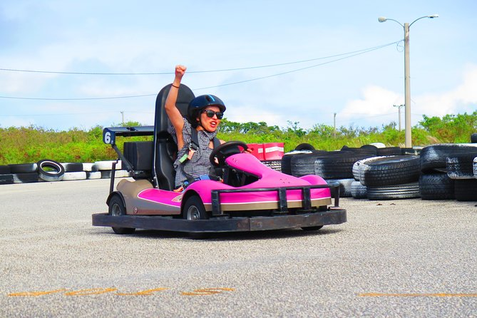 Test your Go Karting skills at the Guam International Raceway! Take the twists and turns, navigate the challenging course, and  <br><br>battle your friends or family for first place.