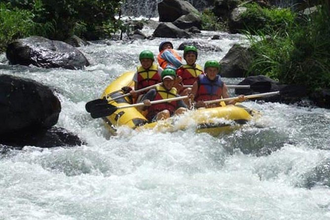 Challenge yourself white water rafting on the Telaga Waja River on this full-day adventure. Experience speeds on category 4 rapids, this activity will surely give you an adrenaline rush. The <br><br> Telaga Waja River rafting experience is an exciting water adventure that explores 8 kilometres of the river and spectacular natural environments. It is suitable for people of all ages who love a challenge. Beginners may also consider the Ayung River which has beginner class rapids.