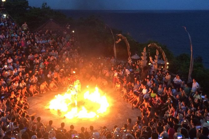 Your driver will pick you up from your hotel and take you to Uluwatu to begin your cultural journey. Uluwatu is a temple of the Hindu culture in Bali with an amazing and spectacular sunset on the cliffs of the peninsula beach in Bali. You will get to experience a one hour dance performance,called the Kecak fire dance. The dance is a unique performance without any instruments and just voices of the dancer and this performance ticket IDR.100k per person,entrance fee is IDR 50K per person and are not included in this tour. Jimbaran fresh seafood dinner will await you on the beach. Dinner is your own expenses. After dinner, you will be transported back to your hotel around 9pm.<br><br>Go on this private half-day cultural tour of the Uluwatu Temple with a balinese local hospitality guide service . Hotel pickup and drop-off is included.