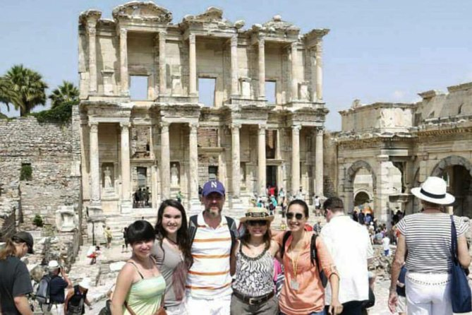 Catch the highlights of Ephesus, including the UNESCO World Heritage Site, on this 5-hour private trip from Kusadasi for a minimum of three people. With personal guide and private driver, tour the ruins of ancient Ephesus, the Meryemana (Virgin Mary's House), the Temple of Artemis, and the mysterious Seven Sleepers cave. Skip-the-line entrance and lunch are included.