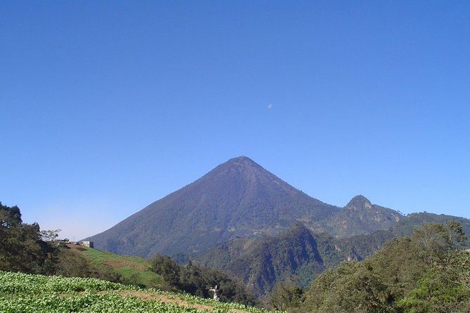 Santa María Volcano is a large active volcano at 3,772 m (12,375 ft) in the western highlands of Guatemala, in the Quetzaltenango Department near the city of Quetzaltenango.<br><br> The volcano was known as Gagxanul in the local K'iche' language, before the 16th century Spanish Conquest of the region<br><br> It takes a difficult 4 hours to hike up and nearly the same time to come down . You will enjoy a look into the active volcano next door called Santiaguito !<br><br> Meet your guide before dawn prepared for a challenging half-day trek to the top of the Santa María Volcano. Take a short drive to the base of the volcano which is situated next to the small village of Llanos del Pinal. Embark on an early morning hike to reach the top of the fourth highest volcano on Guatemala, accompanied by your friendly and informative guide.