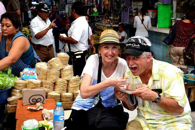 This 3-hour street food tour is for foodies who want to sample the authentic street food of the Yucatan. Visit Merida's main market, sample fruits and juices, and walk along to tasting spots where you can try native dishes such as 'cochinita pibil' (slow-roasted pork), 'panuchos' (tortillas stuffed with refried black beans), empanadas, and seafood tacos. End your tour with a sweet stop at a gelato shop specializing in local flavors.