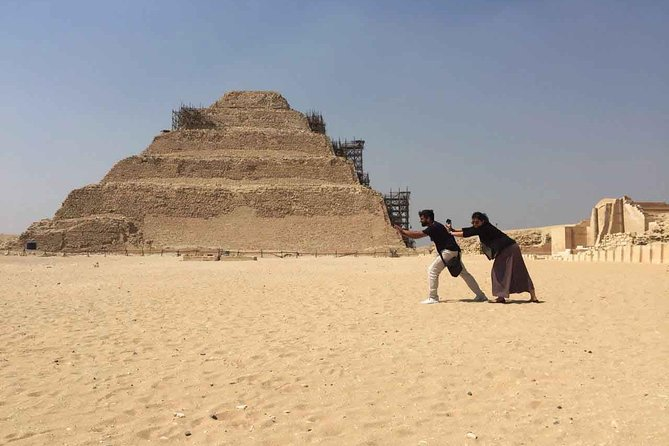 Pyramids and Saqqara Tours from Portsaid, is the suitable choice if you are fascinated by the pyramids and their mysteries. In This tour, you will visit The Giza Pyramids where you will get to witness the Three Pyramids as well as the Sphinx and the valley temple. Enjoy a camel ride with the pyramids in your background. Later you will visit Saqqara, where the first pyramids ever built still there. At the end, you will visit the ancient remains of Memphis, the first capital of Egypt. Later, return back to Portsaid. Pyramids and Saqqara Tour is a highly recommended excursion from Portsaid.