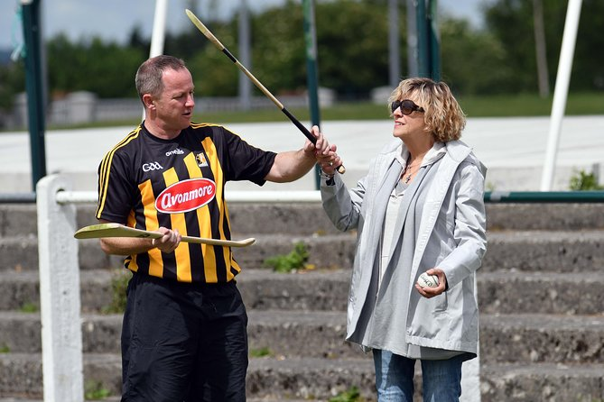 This 1-hour Hurling Tour involves giving tourists a presentation informing them about the sport. We delve into the history of Hurling and how it has evolved into the fastest field game in the world, that we see today. This is all done in a Hurling team's dressing room in Kilkenny City, giving tourists that up-close, intense experience. Once tourists are up-to-date on the basics of the game, we take them on to the field to try a few basic skills for themselves. This is the part that has proved most popular, with guests eager to get immersed in the Irish culture.