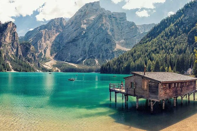 """Daily tour of a total of 360 km throughthe breathtakingDolomites, one of the most beautiful and unique alpine regions in the world, a masterpiece of the nature included in the UNESCO World Heritage list in 2009. From Trento to Cortina d'Ampezzo on the spectacular """"Great Dolomites Road"""". Next we takeyou to admirethe symbol of the Dolomites, the Three Peaks of Lavaredo. Short stop also in Cortina d'Ampezzo, site of the Winter Olympic Games in 1956 and great ending with the most famous lake in the Dolomites, the Braies Lake."""