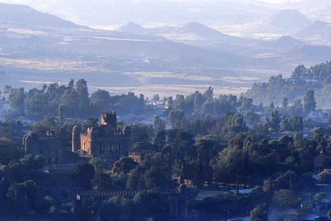 "This is a full day city tour in Gondar. Gondar is located in the Amhara regional state, northern Ethiopia. Gondar is situated at 12.60 latitude and 37.47 longitude at an elevation of 2201 meters above sea level. Gondar is also known as the ""Camelot"" of Africa, nestled in the foothills of the breathtaking Semien Mountains National Park. Gondar was the 17th and 18th century capital city of Ethiopia, which was founded by Emperors Fasiladas (1632 – 1667). It was home to a number of emperors & warlords, curtsies and kings who built several castles and palaces in the area."