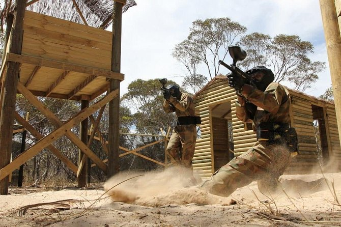 Experience full day access to any paintball centre across the UK. Included in your full day pass is entrance from 9am until approximately 4pm  <br><br> Throughout your day out you'll experience 14 unique objectives in game zones such as Enemy at the Gates, Zombies' Crypt, Gold Rush and many more. Tanks, sniper towers, haunted graveyards and enemy bases – all venues offer amazing a variety of game zones for players to explore. You'll be provided with full protective equipment including: combat suit, padded body armour, full-head goggles, battle pack, rental of semi-automatic paintball gun. Full training and supervision is provided by dedicated staff. Free tea and coffee available throughout the day.