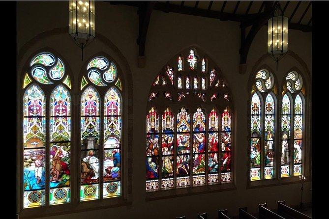 The Nasu Stained Glass Museum lies north of Tokyo in the Tochigi Prefecture, and is well worth the 2.5-hour travel time. With this admission ticket, you'll gain access to the museum that looks like a British noble manor on the outside, and features exhibits to explore on the inside. See antique stained glass from the 1800s, a collection of stained-glass lamps, and an antique pipe organ.