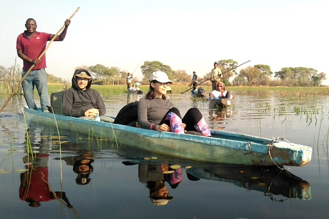 Okavango Delta day trip <br><br>Maun Town<br><br>Mokoro excursion <br><br>Guided walks<br><br>Nature relaxation at its best!