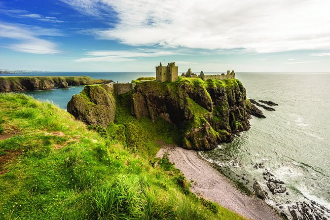Combine the majestic heights of Royal Deeside with the epic cliff-top site of Dunnottar Castle. <br><br>For almost 150 years, the British royal family have travelled to the River Dee for their holidays.<br><br>With almost unlimited cash and resources, why do they always come here?<br><br>We think there's an easy answer.<br><br>This area encapsulates everything everyone loves about Scotland. You find grand castles enclosed by pine forests. You look up at the highest plateau in Britain in the Cairngorms National Park. And there's enough nearby distilleries to satisfy any royal event.<br><br>So, who wouldn't want to escape to the fresh air of this location?<br><br>On this tour, we combine her Majesty's favourite holiday spot with a trip to Dunnottar Castle, one of the most historically important and visually arresting sights in Scotland.<br><br>Hop aboard this tour, see an epic castle, and discover whether you have the same taste as the royals.
