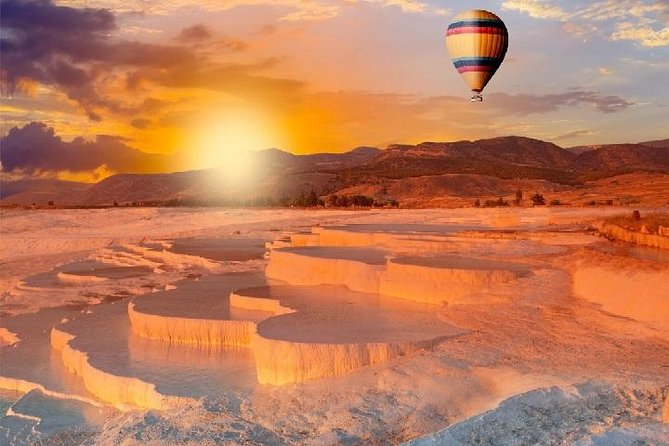 Pamukkale is one of the hottest destinations in Turkey and a popular area to go up in a Hot Air Ballooning.