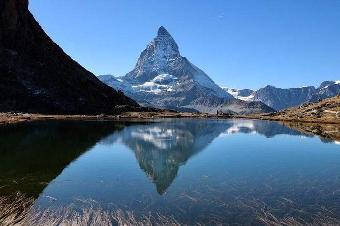 """To see the Matterhorn live - it's a must for every Switzerland traveller. Visit the alpine village of Zermatt with it's typical chalet style, surrounded by high alpine peaks, the Matterhorn in face all the time.With your tourguide you discover the old part of Zermatt and the Gornergrat mountain, from where you will have all this """"postcard"""" views to the Matterhorn.<br><br>Our tourguide accompanies you on this tour from the starting point, shows you the changing landscape and answers your questions about the country and its people. The tour guide knows the way and shows you a few places away from the tourist flow."""