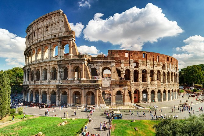 "• Discover the history of the Colosseum and Ancient Rome <br>• Skip the long lines to access the monument<br>• Access the Palatine Hill and the Roman Forum<br><br>Follow in the footsteps of the fearless gladiators and access the Colosseum, the magnificent amphitheater symbol of Ancient Rome, with no need to wait in line.<br><br>You will be added to a small group with a privileged skip-the-line entrance and, after the entry procedures and the mandatory security checks, you'll be free to explore the Colosseum on your own. After the Colosseum visit, you'll be escorted at the entrance of the Palatine Hill/Roman Forum, where you can explore both sites on your own. <br>ATTENTION ""Colosseum Under the Moonlight Tour"" includes the guided visit in English for 1.15 hour and does NOT include the entrance to the Roman Forum and Palatine hill.<br><br>PLEASE, READ CAREFULLY ALL THE INFORMATION ABOUT THE TOUR BEFORE BOOKING!"