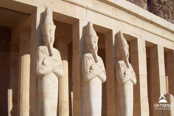 Drive to Luxor to see Egypt's 'open-air museum'. See<br><br> Luxor Temple and <br><br>Karnak on the east bank of the Nile and stay in Luxor overnight. Visit <br><br>Hatshepsut Temple, the <br><br>Valley of the Kings, and the <br><br>Colossi of Memnon the next day on the west bank before heading back to <br><br>Marsa Alam.