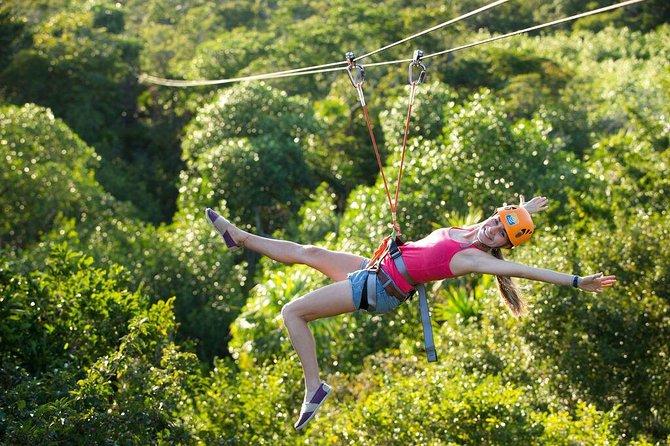 Excursão ao cenote na Playa del Carmen: mergulho com snorkel, rapel e tirolesa, Tulum, MÉXICO