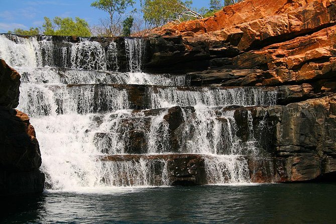The Gor­geous Gorges tour is unique to Broome Avi­a­tion. Fly with us for the expe­ri­ence of a life­time that reveals the best of what the West Kim­ber­ley has to offer, in one day! You will encounter Gorges, Water­falls, Remote Islands, His­toric Cat­tle Sta­tion and oodles of sights and sounds through­out this spec­tac­u­lar wilderness!<br><br>Read more about what your day of adventure entails by selecting the location points below.