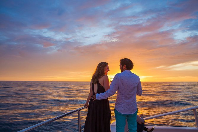 Cruise the Los Cabo's Coastline while listening to smooth jazz aboard the Tropicat, the most luxurious and elegant super catamaran in Baja. Your tour also features an international bar and snacks as you sail past main landmarks such as Lover's Beach, Land's End and into the sunset.