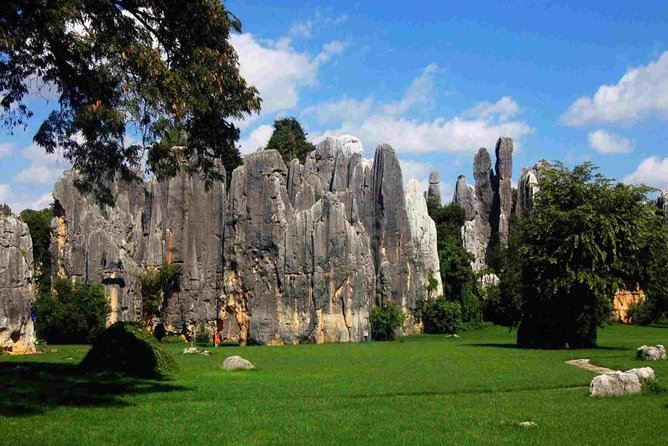 Enjoy this 9-hour private tour with a guide, departing from your hotel in Kunming. Visit the Stone Forest and Jiuxiang Cave. Both places are unique and classical karst landforms in China. Hotel pickup and drop-off, Chinese lunch and entrance fees are included.