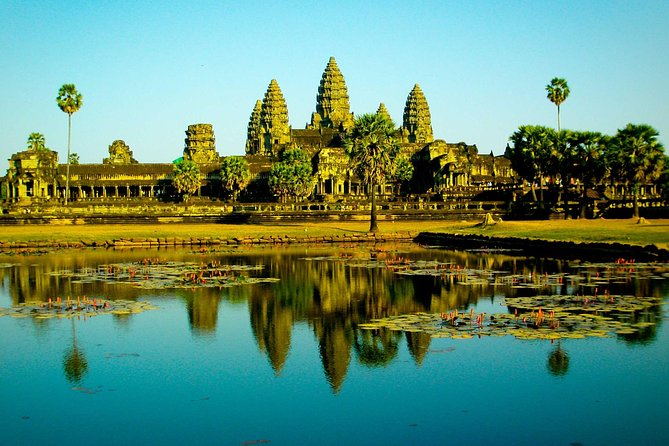On this small-group tour, visit most highlighted temples on acircuit throughthe UNESCO-listed Angkor Archaeological Park. Stop atAngkor Wat known as the 7th world wonder and the world largest religious monument, the Angkor Thom complex, The Bayon Temple with endless 200 smiling faces, Ta Prohm templegetting enchanted with the sight of the ruins taken over by tree roots, a demonstration of the awesome power of nature. Hotel transport is provided from Siem Reap, but the required entrance fee is not included on this tour.<br><br>This tour concludes with return transfer to your hotel or any requested drop off point within the city center.
