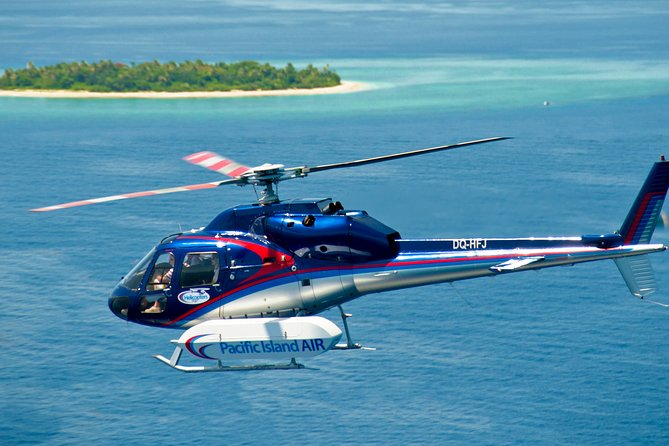 This flight offers the best helicopter scenic flight highlights of the islands around Nadi in the Mamanuca group of islands (there are 33 islands in this region) and also the Highlands and interior of Fiji with a visit to the 'land of the sleeping giant' a mountainous area in the shape of a sleeping giant called the Mount Evans range.<br><br>Flights depart from our floating helipad in the Denarau marina or Nadi Airport<br><br>Enjoy a complimentary pick-up and drop off to your Nadi or Denarau hotel.<br><br>Excellent commentary provided by your friendly pilot who will point out all the best and iconic places.