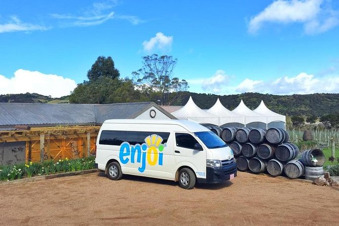 If you're looking for a premium wine tour experience on Waiheke Island, this is the tour for you. Discover an abundance of beauty on Waiheke Island 'The Island of wine'. This tour is guaranteed to leave you with fond memories that will last a lifetime! Don't miss out on this wonderfully fun, relaxing and informative wine tour.<br><br>You will visit 3 to 4award-winning vineyards and try 3-5 tastings at each. You will have a 1.5- to 2-hour lunch stop at one of the vineyards, (Lunch is additional) where you can relax, enjoy the wine, food and scenery.