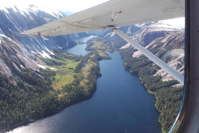 Explore pristine, untouched wilderness on this 90-minute flight tour through Misty Fjords National Monument.  From your own personal window seat aboard a Dehavilland Beaver (DHC-2) bush plane, view cascading waterfalls, dramatic cliffs, and lush mountaintops covered in old growth forest.  Interact with you professional, veteran pilot via two-way radio on this small group tour a short flight from Ketchikan.