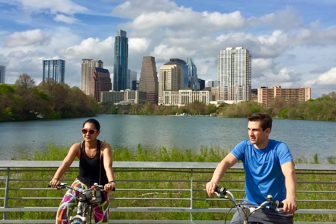This informative, easy 2-hour tour of 7.5 miles with some small hills, starts at Barton Springs South Gate and makes its way around the lake on the hike-n-bike loop trail, including the boardwalk, Zilker Park, Butler Park and Congress Bat bridge. This tour is a great tour for riders of all ages and skill levels, as it is totally natural, mostly shaded and traffic free. A great way to familiarize your group with the best parks of the downtown Austin area. Price includes local sales tax.