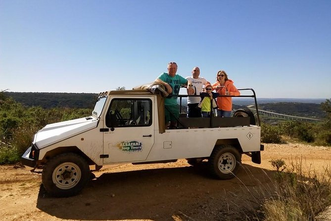 """Discover a hidden Algarve aboard a 4wd Jeep """"off the beaten tracks"""" in the Algarve countryside. This tour highlights the most beautiful landscapes, swim in a local river admire the regional architecture and gastronomical tastes of Algarve. One of the can't-miss experiences of this tour is the gastronomical tasting of honey, and licours as well as the visit of an old firewater distillery and tasting of the famous Medronho drink."""