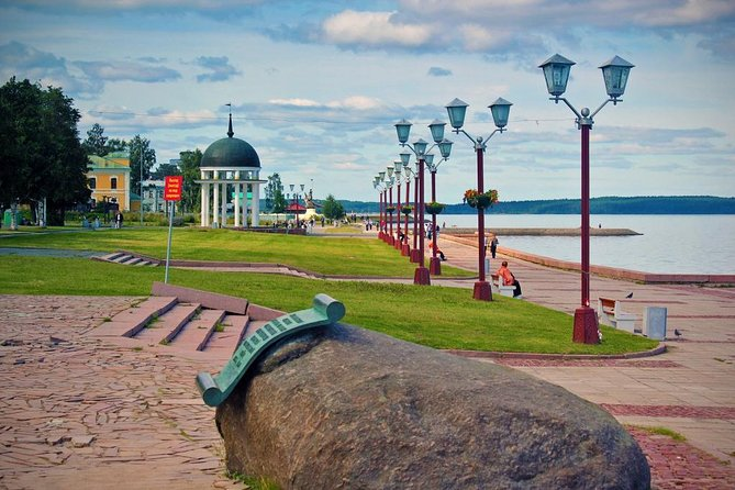 During the city tour (by car/bus) you will get acquainted with the history of Petrozavodsk from the foundation by Peter the Great to the 21st century.<br><br>Petrozavodsk was founded in 1703 as Petrovskaya Sloboda by Peter the Great, who needed a new iron foundry for the Baltic Fleet at the time of the Great Northern War. By 1717, Petrovskaya Sloboda had grown into the largest settlement in Karelia. The Republic is located in the north-western part of the Russian Federation, between the basins of White and Baltic seas. There are 60000 lakes in Karelia (the largest and the most famous are Ladoga lake and Lake Onega). Karelian language is quite close to Finnish (as it was the part of nowadays Finland earlier).