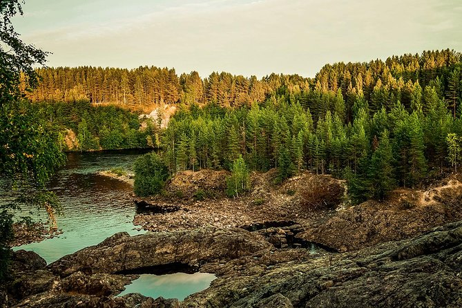 """We offer you to enjoy the real Karelian nature in natural parks and reserves. You can see volcanoes, waterfalls, mountains, quarries, etc.<br><br>Karelia, having a favourable geographical location, unique natural and recreational resources, centuries-old cultural and historical heritage, is attractive for Russian and foreign tourists. During this tour, you will visit natural parks and reserves. You will see volcanoes, waterfalls, mountains, quarries, etc. We offer you to make a guided tour to the natural reserve in suburbs of Petrozavodsk, where you can climb up the mountain Sampo, an ancient volcano Girvas, visit health resort """"Martsialnie Vody"""" where you'll be able to try mineral water from underground sources. Also, you will see the famous waterfall Kivach - the second biggest waterfall in Europe. You will have time to make unique photos and buy Karelian souvenirs. After the tour, the guide will accompany you to the place of your accommodation.<br><br>• Guaranteed skip-the-line entrance"""