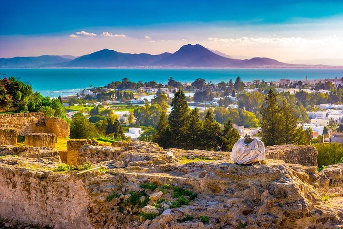 Visit the ancient city of Carthage, a seaside village, and Sidi Bou Said which overlooks the Mediterranean Sea on a half-day tour from Tunis that includes round-trip transport from your Tunis centrally located hotel. This tour takes you to 1 of Tunisia's 7 UNESCO World Heritage Sites in a single day.<br><br>Highlights<br> • Half-day Tunis tour <br> • Visit the Punic city of Carthage <br> • Visit the town of Sidi Bou Said <br> • Hotel pickup and drop-off from your Tunis centrally located hotel
