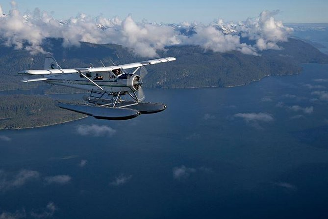 "Tour the snow capped mountains near Ketchikan on this 3-hour flight tour and crab feast.  Explore the town from the air and fly over the beautiful countryside on a 30-minute, full-narrated flight while searching for native wildlife, then land in the George Inlet Fjord for an all-you-can-eat crab feast.  Combine two very Alaskan activities into one fun-filled day.<br><br>Meeting instructions: <br><br>We will pick you up at the north end of the Ketchikan Visitor Bureau, which is located on the middle of the cruise ship pier, near the circle of statues. Please look for the ""SeaWind Aviation"" guide in the white van and arrive 10 minutes prior to the departure time. <br><br>Please call us once you arrive at 907-225-1206, or you can reach us on our direct line inside the Visitor Bureau at #70, or you can check in with our employee at booth #4 inside the KVB building."
