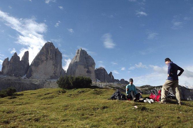 Guided hike around Tre Cime di Lavaredo, the symbol of Dolomites, ,