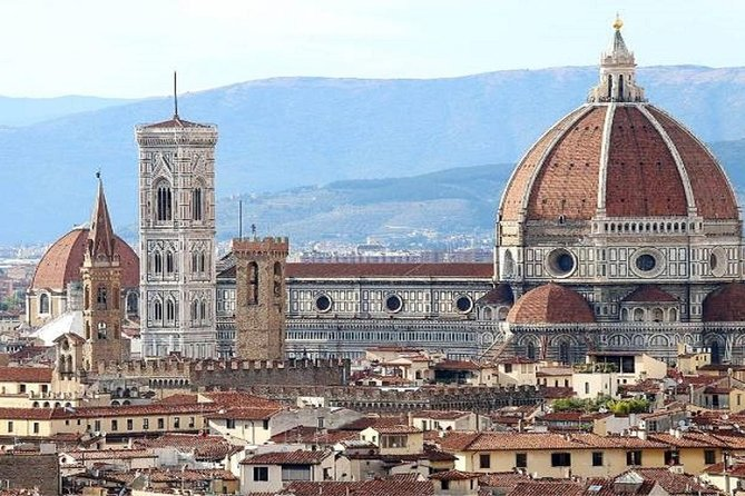 Explore the highlights of two of Tuscany's most famous cities, Florence and Pisa, on this small-group self-guided day trip from Rome. Walk through the historic center of Florence to see Brunelleschi's beautiful dome over the cathedral. Admire the leaning tower of Pisa, one of Italy's best-known monuments. This is Small-group trip limited to a maximum of 15 people and will last for a total of 12 hours including transfers between Rome and the destination cities.
