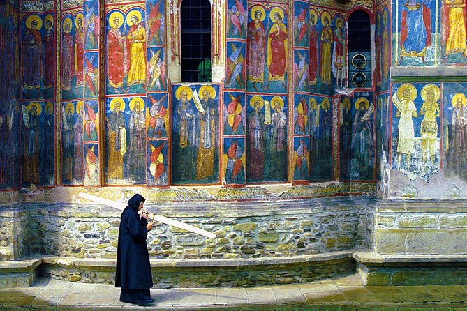 Discover the Painted Monasteries of Bucovina in a 12-hour guided tour from Iasi. You will visit some of the most important monastic settlements in the region (Voronet, Moldovita, and Sucevita Monasteries) and you will discover the art of creating black pottery, a craft exclusive to the region of Marginea.