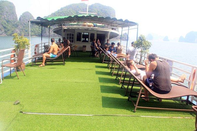 Halong bay full day trip: Visit Surprise cave, Titop island, kayaking & swimming, Halong Bay, VIETNAM