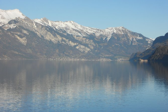 Small group, private tour in minibus : to Neuhaus a beach of the Lake Thun.Enjoy the panoramic lake view,drink a tea,coffee,or take an ice cream, On the way to Lauterbrunnen You will stop at a cowfarm<br><br>Reaching  Lauterbrunnen- the Valley of the 72 waterfalls, which is nesteled in a small alpine mountain valley,You willl see the famous <br><br>Staubbachwaterfall<br><br>Impressing views to snow covered mountains and everywhere the waterfalls. In spring and early summer there you can find 72 of them.<br><br>We will stop at 3 of them, the biggest :Staubbachfall,Mürrenbachfall and Trümmelbachfall ( in Winterseason instead Truemmelbachfall-we go also to Giessachfall -Lake Brienz ) and the  <br><br>Returning to Interlaken stop at the Lake Brienz / beach of Bönigen