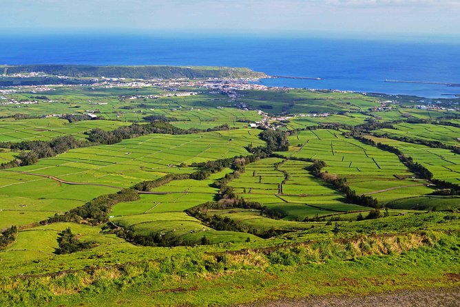 8 hour private tour to explore Terceira island accompanied by a local guide who will drive you to the best sights of the island (visit the inside of an empty volcano, walk along natural swimming pools made of lava rock, be amazed by the beauty of the largest crater in the Azores), taste local food, stories teller and culture.
