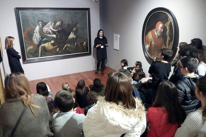 Living this experience, you will have the opportunity to enjoy a guided tour of the Museum's rooms thanks to the collaboration with Di.Co., a Cultural Association that is made up of qualified personnel in the field of cultural heritage and specialized in art education.