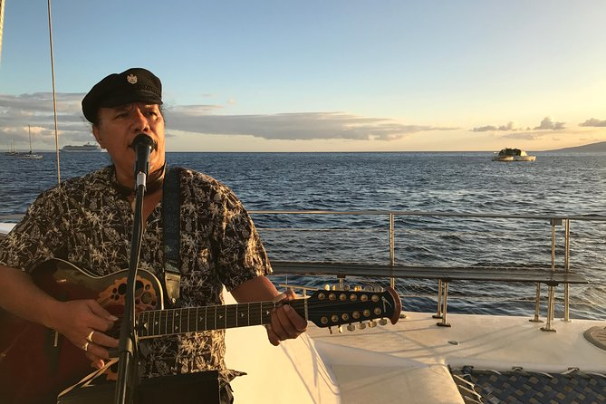 Exclusive to Sea Maui, it's the only sail that departs Ka'anapali beach 3 times a week with awesome LIVE music on board. It's sunset sailing with a twist! If you're looking for a little more excitement than the traditional sunset sail, this is the trip for you. Popular local performers play traditional, contemporary and reggae versions of well known songs and much more. Includes whale watching from Dec 15th - April 15th. All inclusive premium bar and pupus (appetizers) included!