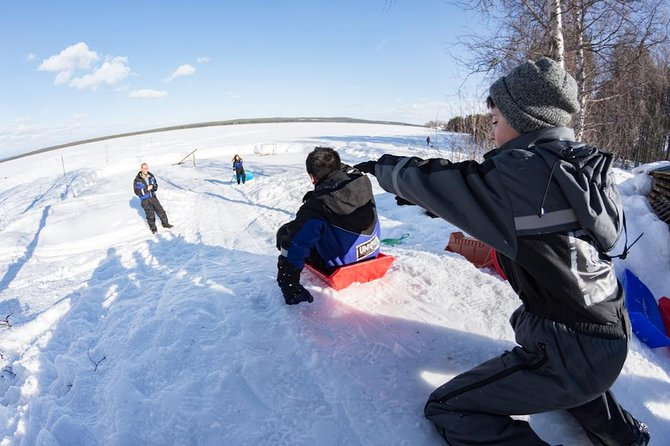 This activity includes most of all favorite lappish winter activities. 4 hours from hotel to hotel. You can spend funny moments with your family or with your friends.