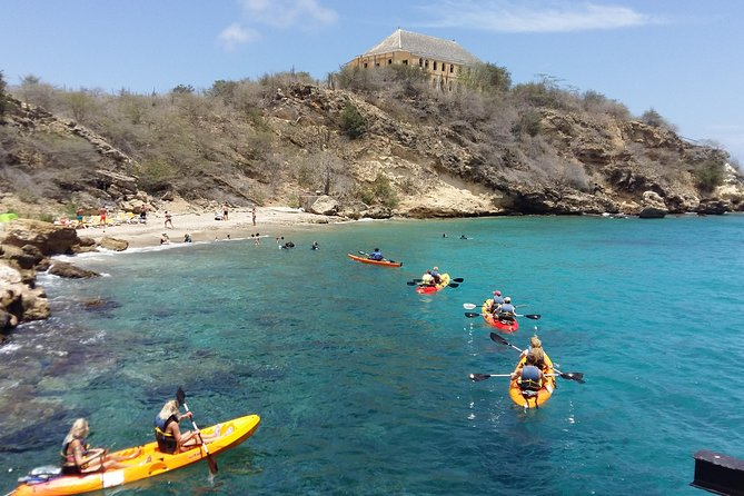Discover the beauty of Curacao and Caracas Bay as you paddle along the amazing coastline by kayak! View natural wonders and historical landmarks like Fort Beekenburg en route to a small beach, where you'll find some of the best snorkeling on the island. Swim, snorkel and play in the pristine waters before making your way back to the pier.