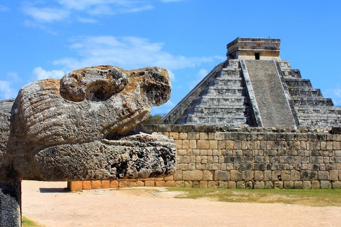 """Discover one of the NEWEST wonders of the world and the mysteries of the great Mayan empire capital.<br><br>Your guide will tell you the history of this great culture, from Mayan calendar still used today in the shape of a pyramid to the traditional ball game """"Poc-Ta-Pok"""" that was held in the stadium.<br><br>Start the day swimming in the cave cenote; this is a closed sinkhole inside a cave so you can cool off, afterwards you will enjoy a typical cuisine of the Yucatan region, then you will visit the Mayan Capital and to close the tour you will go to Valladolid, a colonial town from the 60s."""