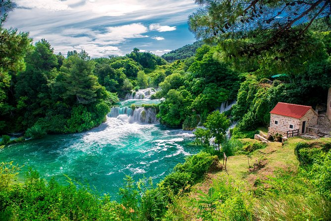 Visit the beautiful Krka National Park, the oldest Croatian town on the Adriatic coast Sibenik, sail by boat to Skradin and enjoy a wine tasting!<br><br>• 7:45 AM – 8:00 AM: Meet at the Bronze Map of Split<br>• 8:00 AM – 9:30 AM: Departure from Split to Sibenik<br>• 9:30 AM – 11:00 AM: Sibenik city guided tour<br>• 11:00 AM – 11:30 AM: Travel from Sibenik to Krka<br>• 11:30 AM – 12:30 PM: Sightseeing on Skradinski buk<br>• 12:30 PM – 3:30 PM: Free-time for lunch and exploring<br>• 3:30 PM – 4:00 PM: Travel from Krka to Skradin by boat<br>• 4:20 PM – 5:30 PM: Wine tasting in a tasting house<br>• 5:30 PM – 7:00 PM: Return to Split<br>