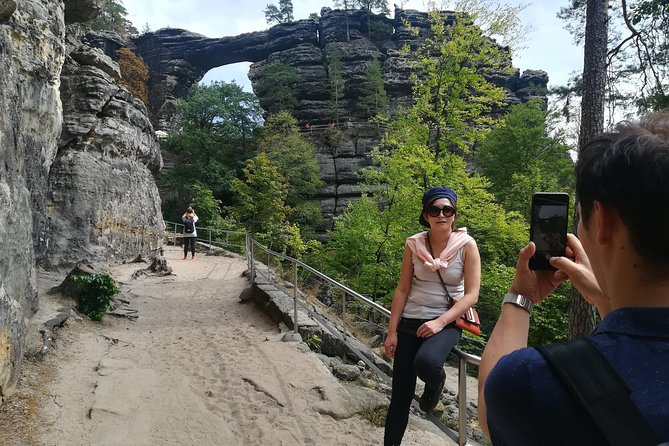 The cheapest tour to the National park Bohemian Switzerland. Visit the National park, walk  the biggest nature bridge in Europe -  Pravcicka gate, see Edmunds Gorges and use boat (boat not in winter). Taste local food with local guide, who live in National park.
