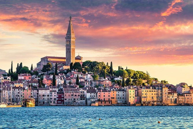 Visit Pula, the largest city in Istria, Rovinj, one of the most picturesque and romantic towns on Mediterranean, and enjoy the panoramic drive through the towns on Istrian coast.